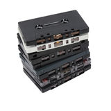 Stack of old cassette tapes Stock Photo