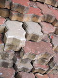 Stack of old cement brick Stock Photo