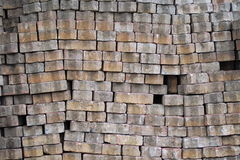 Stack of old cement brick Stock Image