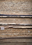 Stack of old dirty tattered books Royalty Free Stock Image