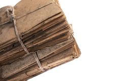 Stack of old files. Dusty old files, full of history Royalty Free Stock Photo