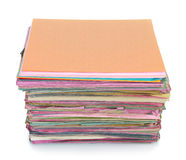 Stack of old files folder Stock Photo
