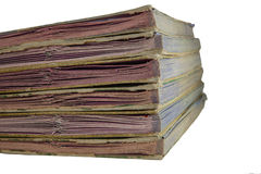 Stack of old  files Stock Photos