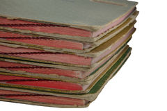 Stack of old  files Stock Image