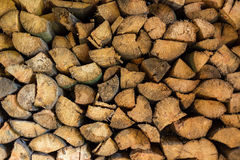 Stack of old firewood Royalty Free Stock Photos