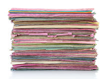 Stack of old folder files Royalty Free Stock Photos