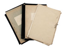 Stack of old folders Royalty Free Stock Photo