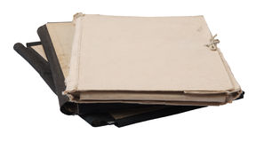 Stack of old folders Stock Photography