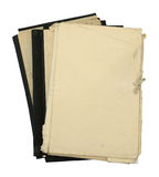 Stack of old folders Royalty Free Stock Photography