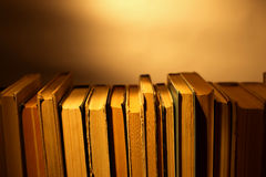 Stack of old hardcover books Royalty Free Stock Images