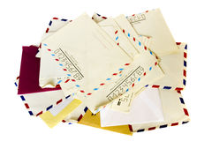 Stack of old letter Stock Photos