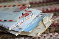 Stack of Old Letters Stock Images
