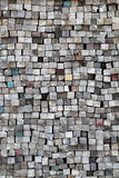 Stack of old wood. Stack of old lumber surface, texture background Royalty Free Stock Photo