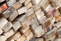 Stack of Old Lumber Royalty Free Stock Images