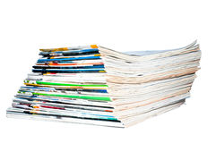 The stack of old magazines Stock Photography