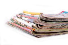 A stack of old magazines Royalty Free Stock Photography