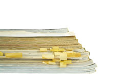 Stack of old magazines Royalty Free Stock Images
