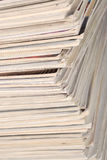 Stack of old magazines Royalty Free Stock Photography