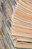 Stack of old magazines Royalty Free Stock Photos