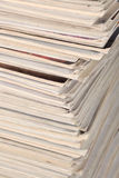 Stack of old magazines Stock Photography