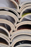 Stack of old magazines Royalty Free Stock Image