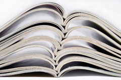 Stack of old magazines Royalty Free Stock Photo