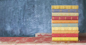 Stack of old multicolored books Royalty Free Stock Images