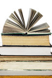 Stack of old and new books Stock Photos