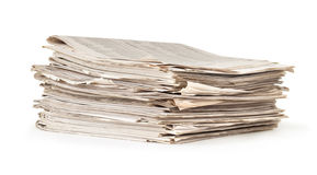 Stack of old newspaper Royalty Free Stock Photos