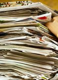 Stack of old newspapers. Image of a stack of old newspapers Stock Photos