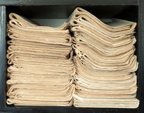 A stack of old newspapers. Stock Photography
