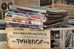 A stack of old newspapers Stock Photography