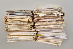Stack of old newspapers Royalty Free Stock Photography