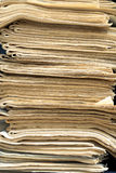 A stack of old newspapers Stock Photo