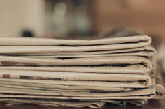 Stack of old newspapers Royalty Free Stock Photos