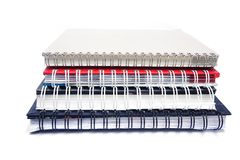 Stack of old note books Stock Images