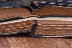 Stack of old open books Royalty Free Stock Photo