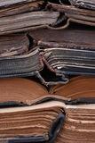 Stack of old open books Royalty Free Stock Photos
