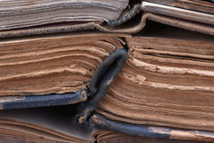 Stack of old open books Royalty Free Stock Photography