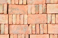 Stack of old orange bricks Stock Photos