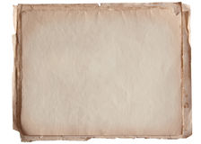 Stack of old paper isolated on white Stock Image