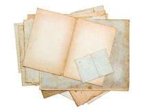 Stack of old paper sheets and cards Royalty Free Stock Photography