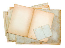 Stack of old paper sheets and cards Stock Images