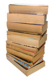 A stack of old paperback books. A stack of old paperbacks Royalty Free Stock Photo