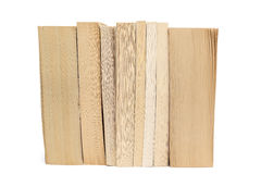 Stack of old paperback books  on white background Stock Image