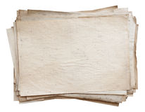 Stack of old papers Stock Image