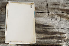 Stack of old papers Royalty Free Stock Photos