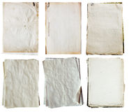 Stack of old papers royalty free stock images