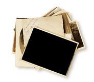 Stack of old photographs Stock Image