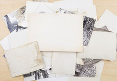 Stack of old photos Royalty Free Stock Photos